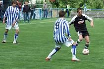 Starší dorostenci Pelhřimova zlomili odpor rezervního týmu Líšně až v posledních dvanácti minutách.