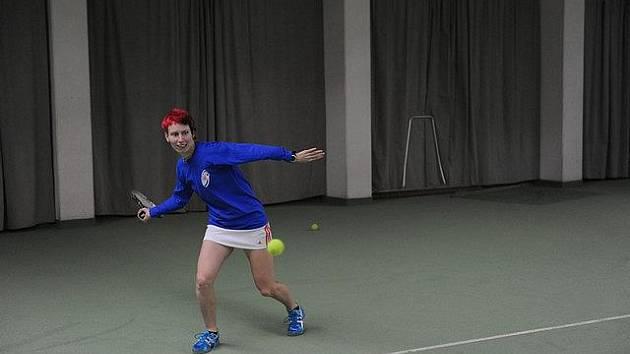 Zuzana Kubáňová v mládí tenis hrávala na špičkové republikové úrovni, proto tento sport není při racketlonu její slabou disciplínou.