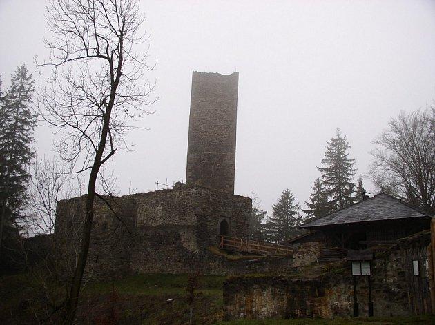 Hrad Orlík nad Humpolcem.
