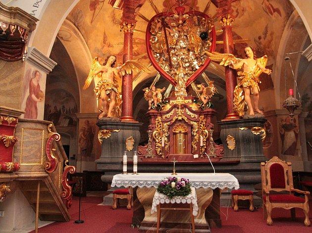 Kostel na Křemešníku.