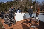 Režisér Radek Bajgar natáčel spolu se svým týmem v resortu Svatá Kateřina u Počátek nový film Teorie touhy.