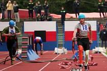 Lukáš Janko z Počátek překonal na sto metrech s překážkami nejen sám sebe, ale i loňský národní rekord a časem 15.55 vteřin se zapsal do historie hasičského sportu.