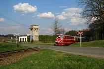 Železniční přejezd Jindřichohradecké místní dráhy v Černovicích