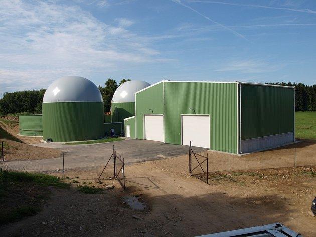 Bioplynová stanice u Pacova.