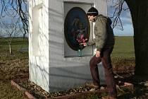 S nápadem na opravu první kapličky u Červenkovy zahrady přišel Pavel Stuchlík (na snímku).