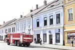 V úterý v jednom z domů v Palackého ulici v Pelhřimově hořelo.