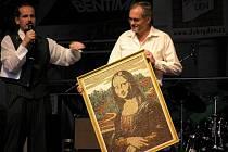 Obraz Mona Lisa vytvořená z rýže