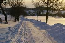 Zimní krajina pod Křemešníkem u Sázavy