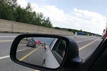 Oprava silnice na trase mezi Pelhřimovem a Kamenicí nad Lipou.