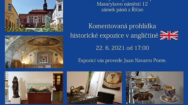 Přijďte si poslechnout komentovanou prohlídku historické expozice v angličtině