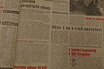 Titulní strana okresních novin Nástup z 30. listopadu 1989.