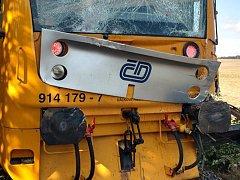 Nehoda vlaku u Obrataně, ilustrační foto.