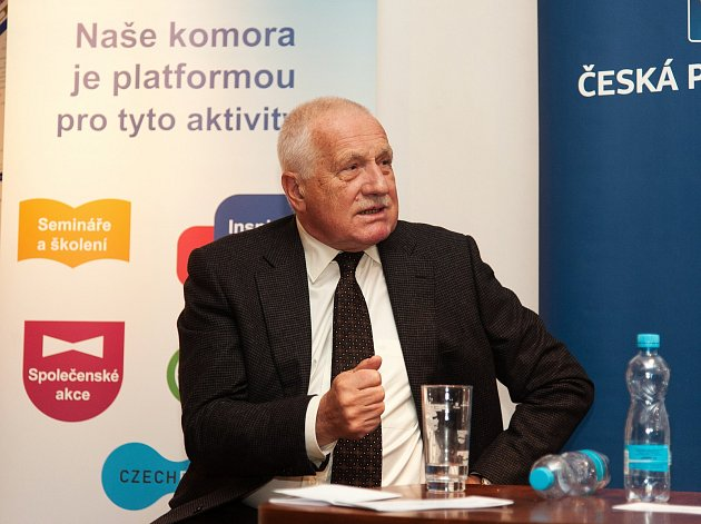 Václav Klaus na inspirativní debatě v Pelhřimově.