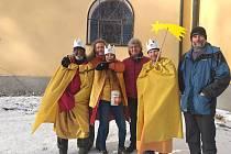 V roli jednoho z králů pomohla Dominika Dufková i v rámci Tříkrálového pochodu na Křemešník.