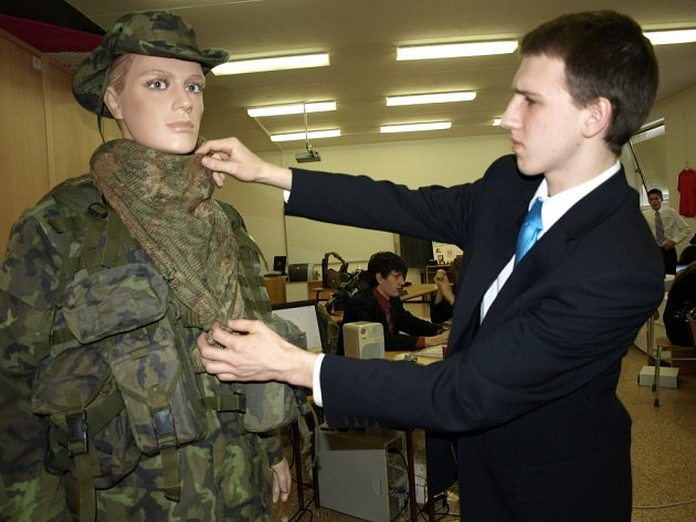 Veletrh fiktivních firem na obchodní akademii v Pelhřimově.