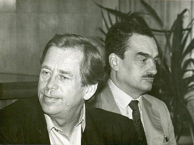Návštěva Václava Havla v Pelhřimově v červnu 1991.