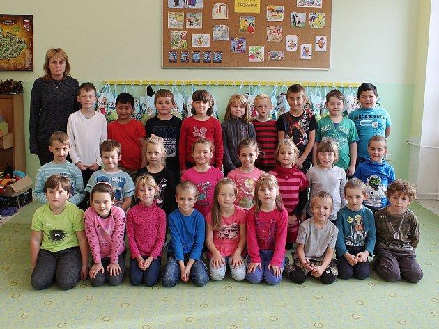 Na fotografii jsou žáci ze ZŠ a MŠ Žirovnice, 1.třída paní učitelky Ivany Vágnerové.