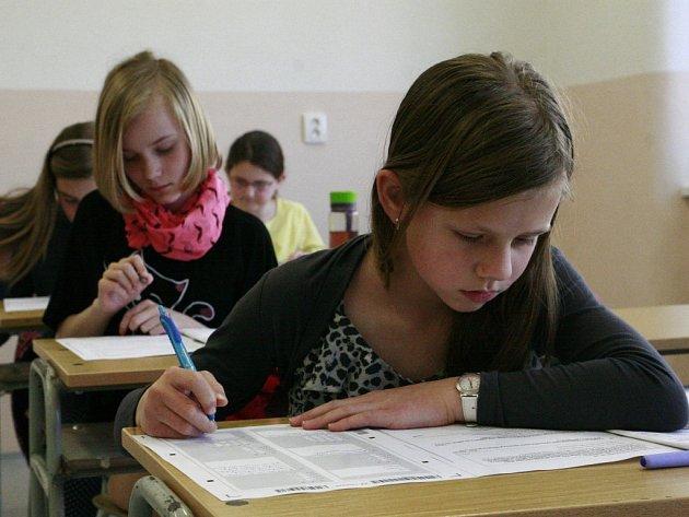 Náročné přijímací testy absolvovaly včera talentované děti, které mají namířeno na osmileté studium na pelhřimovském gymnáziu.