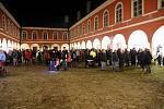 Svatomartinský průvod provázela v Kamenici nad Lipou atmosféra světel.
