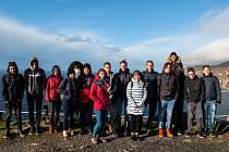Skupina pelhřimovských studentů si na severozápadu Irska dopřála i výlet k moři.