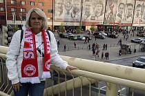 Tohle je zápas fotbalové Ligy Mistrů. Byla jsem na všech domácích utkáních Slavie, tohle je před soubojem s Dortmundem. Takže fotka je ze 2. října.