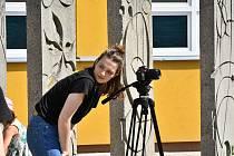 První natáčecí den studentského dokumentu.