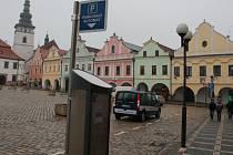 V rámci nového parkovacího systému na severovýchodní straně Masarykova náměstí a v přilehlých ulicích Růžové a Palackého, vyrostly v centru města tři parkovací automaty.