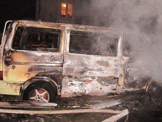 V Sázavě v neděli pár minut po jedné hodině ranní začalo v přístřešku vedle tamní hasičské zbrojnice hořet. Plameny zachvátily čtyři vozidla, dřevěný přístřešek a včelín. V pondělí už byl přístřešek uklizený.