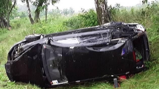 Nehoda u Strměch na Pelhřimovsku.