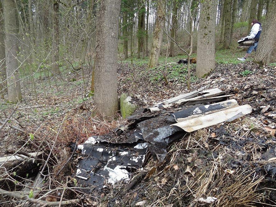 Dobrovolníci čistili v sobotu 8. dubna místa na okraji Kamenice nad Lipou.