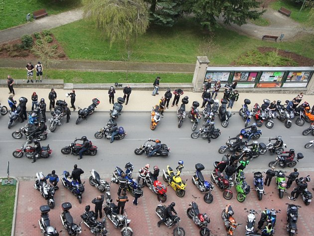 Motorkáři v Humpolci.