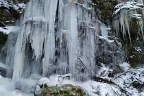 Kouzlo zimy: Ledopád u Sedlice na Pelhřimovsku Foto: Tereza Šnajdr Stýblová