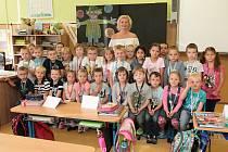 Na fotografii jsou žáci ze ZŠ Na Pražské v Pelhřimově, třída 1. B paní učitelky Kateřiny Horákové.