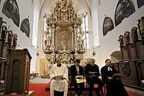 V pelhřimovském kostele svatého Bartoloměje se v neděli odpoledne konala ekumenická bohoslužba.
