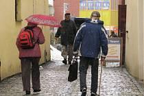 Plískanice, sníh s deštěm, sychravo. Tohle počasí lidské duševní pohodě nepřidá.