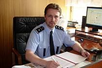 Martin Souček u pelhřimovské policie působí patnáct let. Nyní je velitelem uniformované policie.