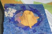 Sopka z těsta, ve kterém je mouka, sůl, olej, voda a sypaný nápoj Tang.