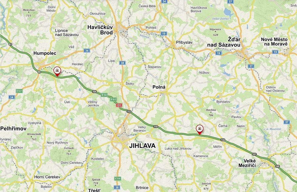 Dva ekodukty letos vzniknou na D1 nedaleko Humpolce a mezi Velkým Beranovem a Měřínem.