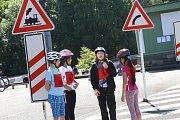 Oblastní kolo Dopravní soutěže mladých cyklistů v Pelhřimově.