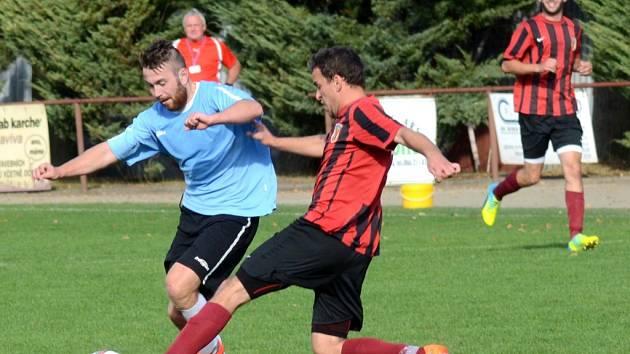Fotbalistům Speřic se zápas v H. Brodě nepovedl. Po třech gólech inkasovaných ve druhém poločase podlehli tamnímu béčku 4:1.