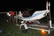 Nehoda letadla u Křelovic.