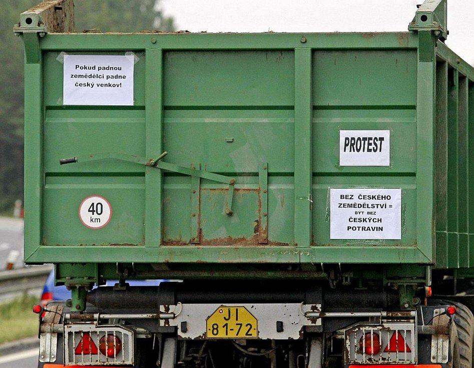 Stávka zemědělců na Pelhřimovsku