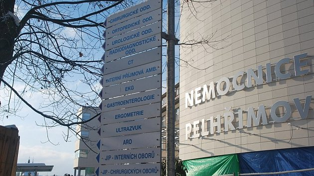Nemocnice v Pelhřimově.