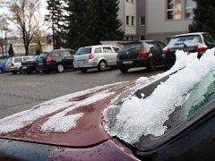 Sníh se nevyhnul ani Pelhřimovsku.