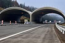 Jediné podstatnější omezení mezi Humpolcem a Větrným Jeníkovem bude u nadchodu pro zvěř přibližně 95. kilometru dálnice D1.