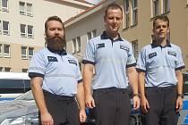 Trojice policistů získala náležité ocenění. Jedná se o Dominika Leška, Miloslava Hladíka a Pavla Vlčka (zleva).