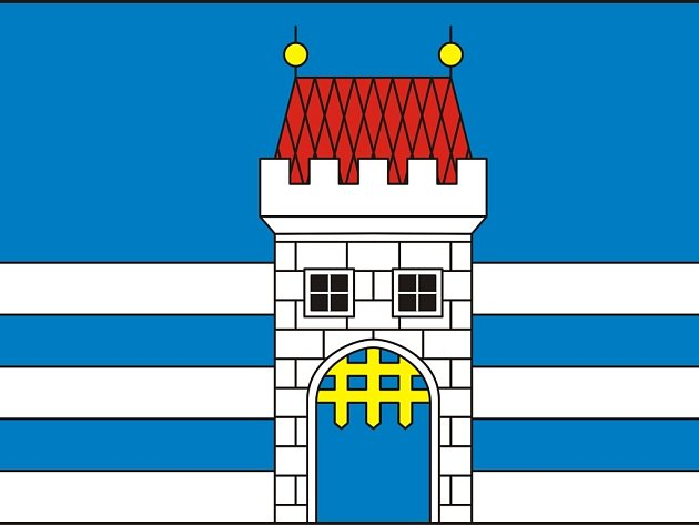 Vlajka městyse Nová Cerekev