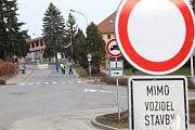 Dopravní situace v Pelhřimově.