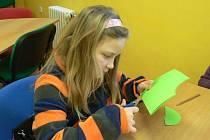 Tvorba dětí v městské knihovně Pelhřimov.