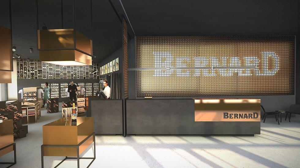 VIZUALIZACE. Nové návštěvnické centrum pivovaru Bernard.